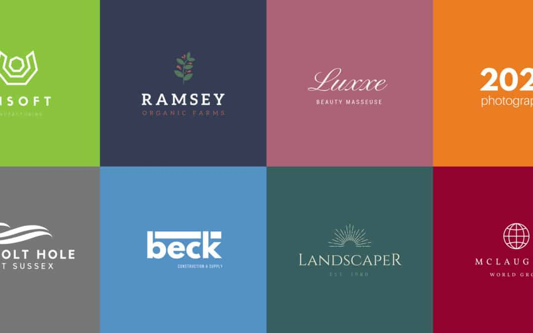 Design Responsive Web Design - Selection of logo designs in various colours